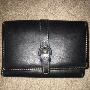 Black Coach Leather Wallet